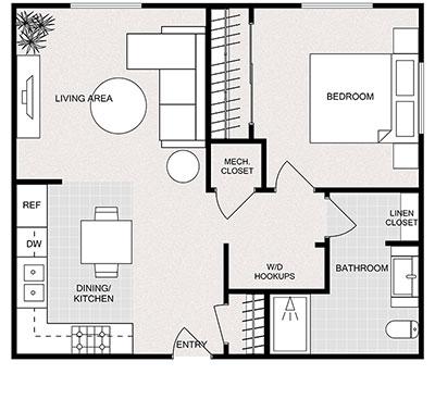 1-bed-1-bath floor plan